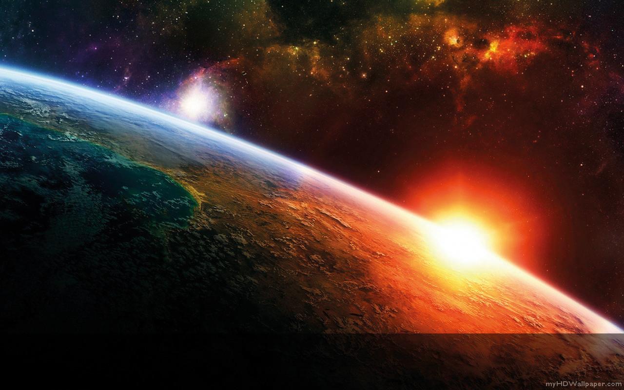 Magnetfeld Der Erde Wallpaper Mutter Erde im Sonnenaufgang
